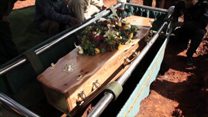 archived photo from Noxolo Nogwaza's funeral which took place in 2011