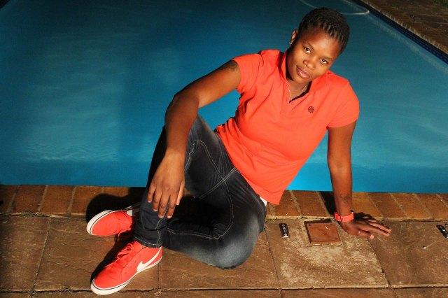Bathini Dambuza, moments captured at Tshidi Porota's birthday party on 2013.02.02Photo by Zanele Muholi