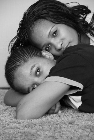 Cassie & Nqo. Photo taken at our lesbian shelter in Hillbrow on 17.04.2013