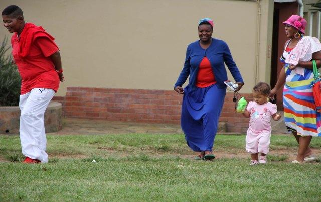 L-R: Pastor Zungu, Maureen Velile Majola with Zenande & MaGesh on 30.03.2013Photos by Nqobile Zungu