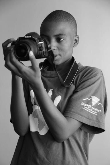 Inkanyiso journalist Lerato Dumse in action