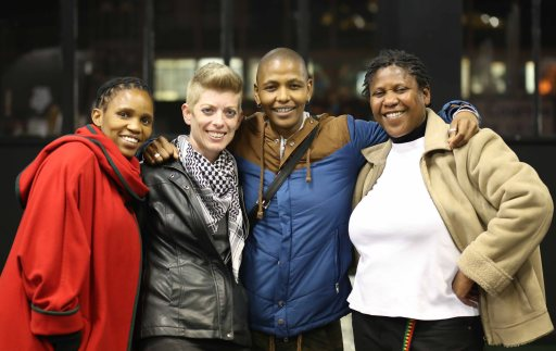 Activists at the launch L-R: Virginia Setshedi; Carrie Shelver; Thokozani Ndaba & Donna Smith