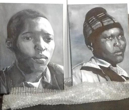 Paintings by Rene Mathibe