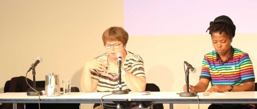Ellen's reading her text at the beginning of the seminar. Photo by Maureen Velile Majola