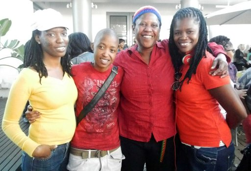 FEW former colleagues of Buhle & Busi. L-R:  Zodwa Nkwinika; Kebarileng Sebetoane; Donna Smith & Bathini Dambuza