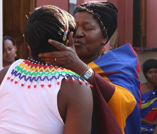 Zandile receives coming of age kiss from Gogo