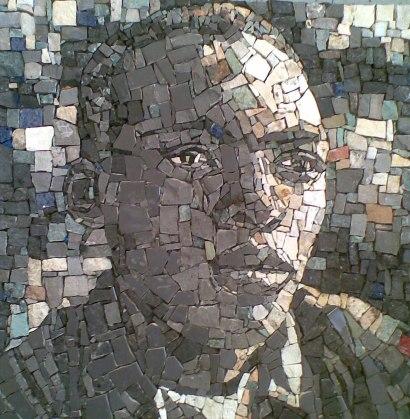 mosaic portrait of Buhle Msibi by Ziyanda Majozi.