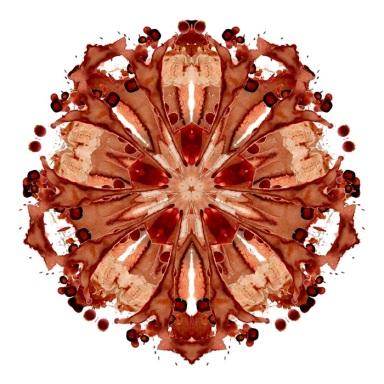 Ummeli, 2011. Digital print on cotton rag of a digital collage of Menstrual blood stains.