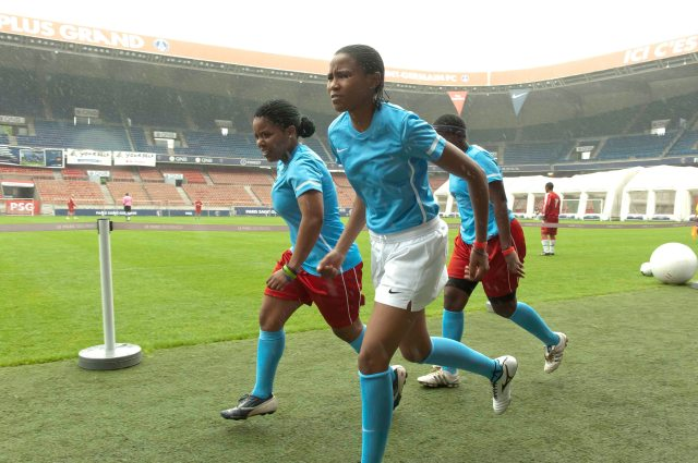 During the game at Parc de Prins stadium in Paris, 2012. Thanks to Foot for Love organisers