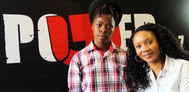 2013 Aug. 26:  Azania Mosaka of PowerFM interviewing Muholi