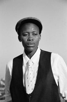 Dikeledi Sibanda, featuring in Muholi's Faces & Phases. Photo taken in Yeoville, Johannesburg, 2007
