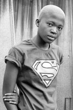 Mbali Zulu, KwaThema, Springs, Johannesburg, 2010 featuring in Muholi's Faces & Phases black and white portraiture series