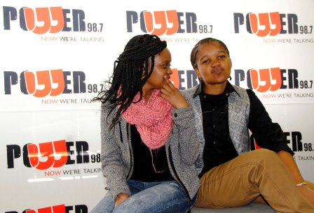 L-R: Kopano Sibeko & Nqobile Zungu before the live broadcasted interview. Photo by Zanele Muholi