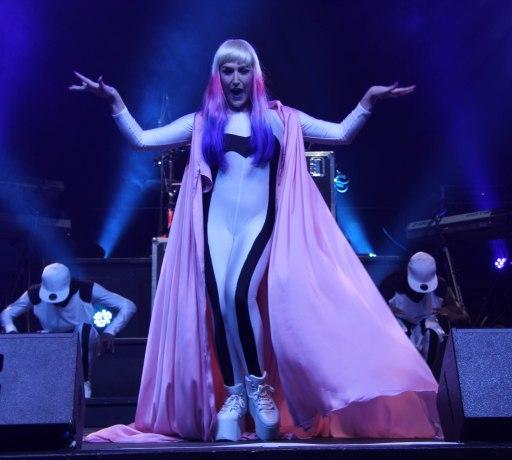Ms Tamara Dey's performing on stage