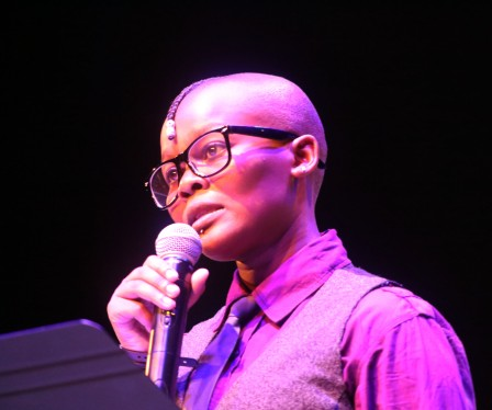 Mpho Maqalika performing at the 2013 Miss Gay Lesbian Soweto