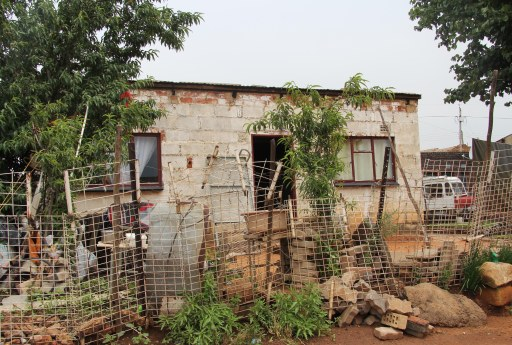 Radebe's family home where the night vigil took place on the 13th Dec. 2013