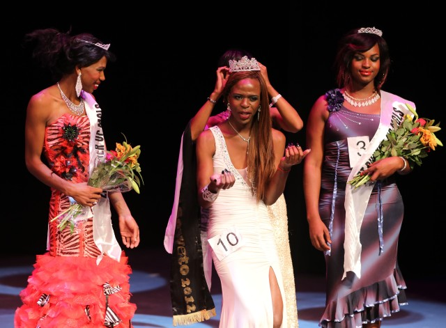Miss 2013 Gay Soweto:  Nhlanhla 'Fiona' Thabatha, 1st Princess, Dimpho Tsotetsi and 2nd Princes Miss Tee Menu