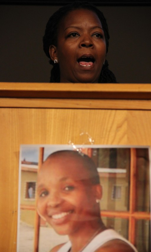 Bibi King, FoC co-founder speaking at the memorial...