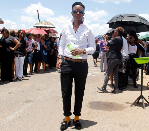 Ayanda from Tsakane, fashionista dressed up for the occassion...