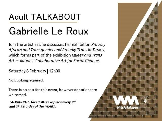 2014 Feb. 4:  Adult TALKABOUT - Gabrielle Le Roux