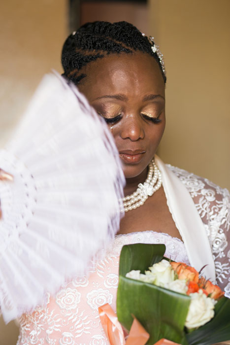 Ayanda Moremi on her wedding day. Kwanele South, Katlehong, 9 November 2013