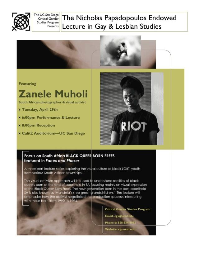 2014 April 29:  Muholi to speak at UC San Diego