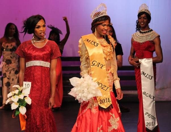 2014 May 17 Miss Tee Menu about to take her 1st walk as the Queen of Miss Gay Jozi 2014