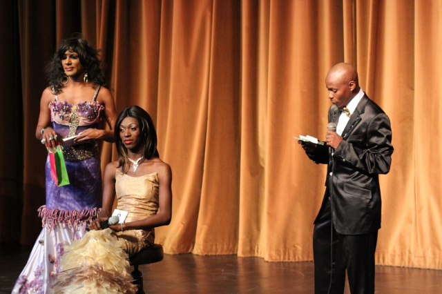L-R Zsa Zsa, Thibi and Musa during a QnA session