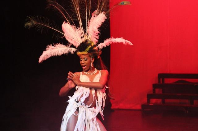 Labelz D'Glamour during her Waka Waka performance