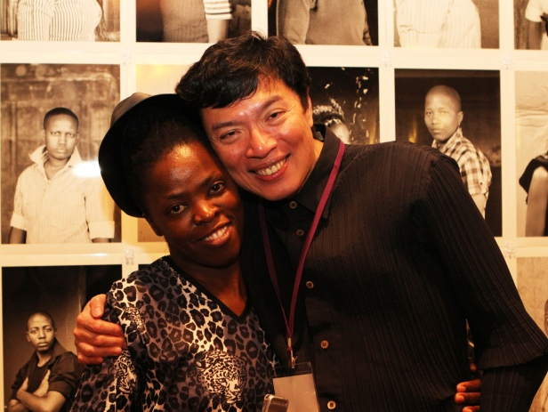 Zanele Muholi with Keng Sen the O.P.E.N SIFA Director...