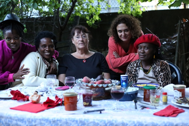 2014 July 5 Muholi LINDEKA Manu Piet LINDA Valerie in Bondy PARIS_9781-1