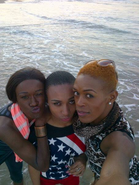 L-R:  Stephanie, Precious and Candice at Durban South beach