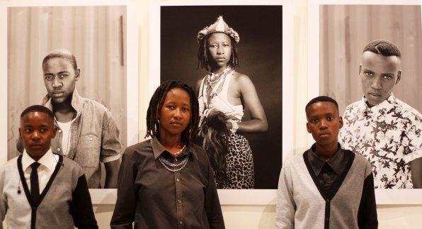 L-R:  Meme Motaung, Shaz Mthunzi & Refilwe Pitso @ WAM opening on 29th Jan. 2014