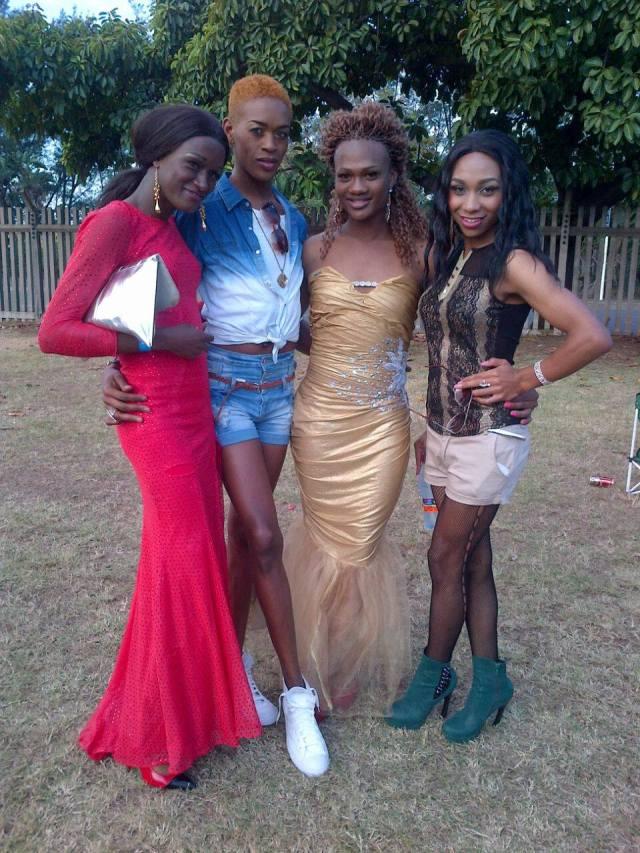 ... Le Sishi in a gold dress
