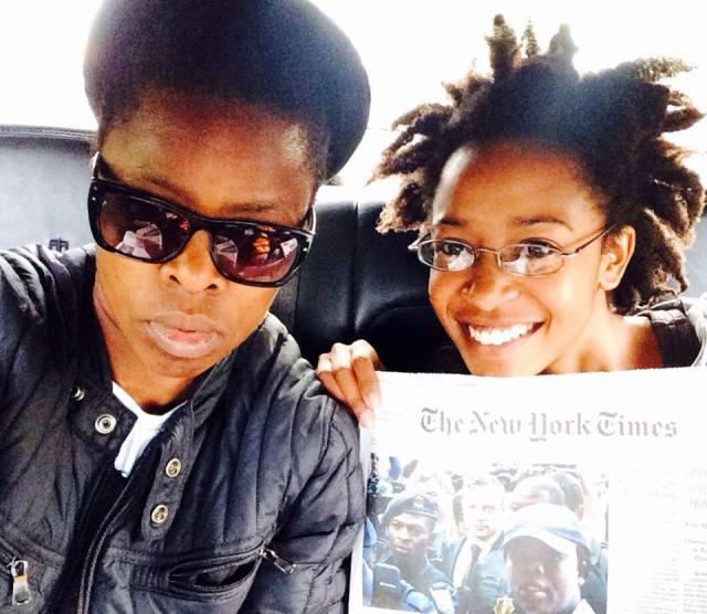 2014 Sept 13 Lebo & Muholi on way to JFK airport