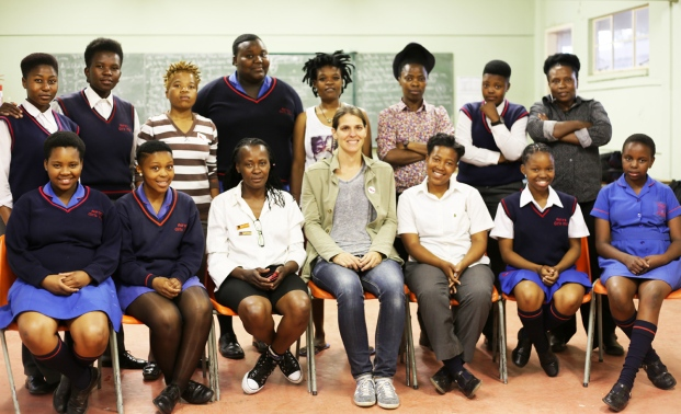 The AGHS PhotoXP learners after guest speaking session. © Lerato Dumse (2014)