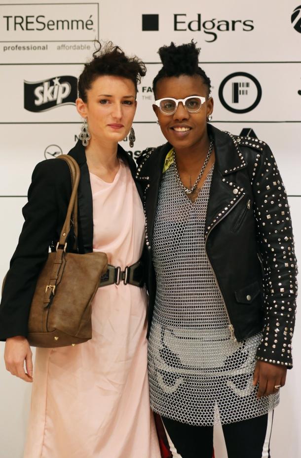 Ally & Toya DaLezy @ SA Fashion Week, Crowne Plaza, Rosebank. © Zanele Muholi (2014)