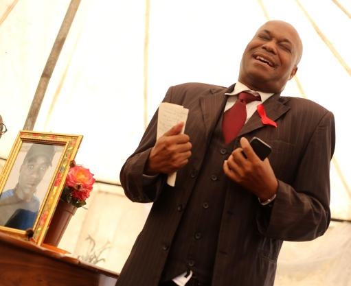 Pastor T. Moema who prayed at the funeral service of Musa Williams