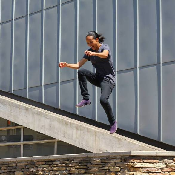A sign of happiness _ Akhona jumps