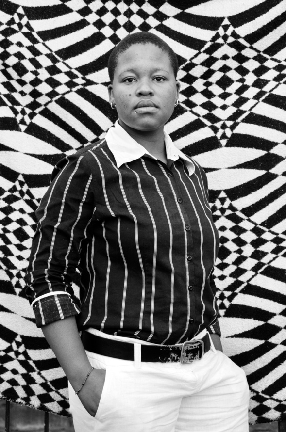 Featuring in the Faces and Phases series is a Soccer player and activist, Bakhambile Skhosana Natalspruit (2010)