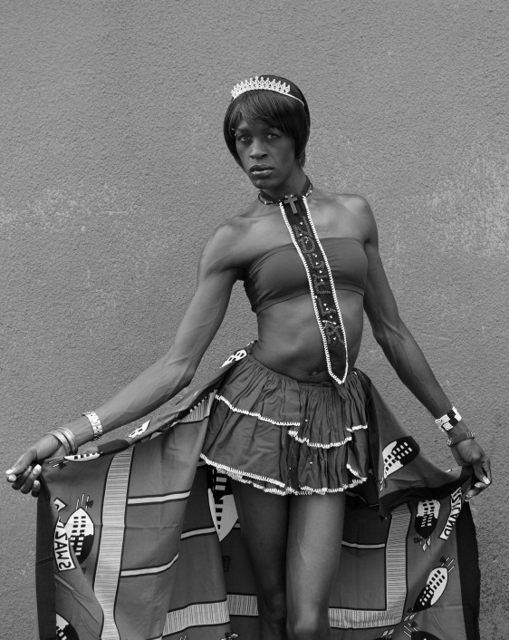 Sfiso 'Candice' Nkosi, at home in Tsakane (2013). Photo by Zanele Muholi.
