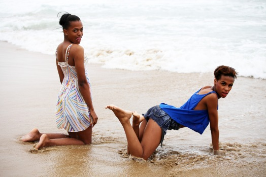 The beauties at the beach, Luyanda & Katiso. Photos by Zanele Muholi (2014)