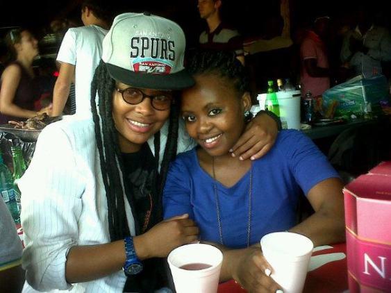 2013 Siba & friend at Mzoli s place , Gugulethu township, Cape Town.