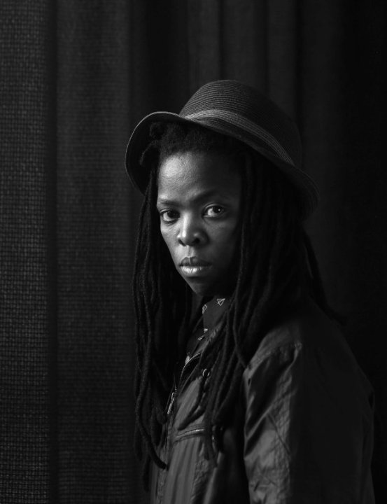 Visual activist portrait.  Photo credit:  Zanele Muholi, Parktown, Johannesburg  (2014)