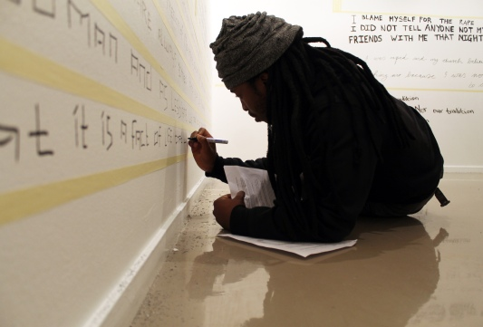 Themba Vilakazi, from photographer to videographer to a writer... part of installation shots