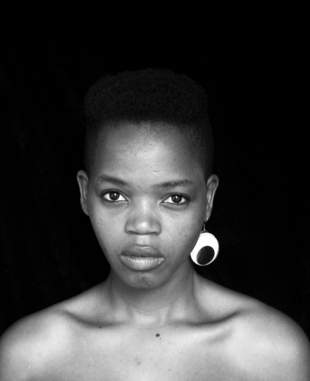 Pam Dlungwana featuring in Faces and Phases, photo taken by Zanele Muholi, Woodstock, Cape Town (2010)