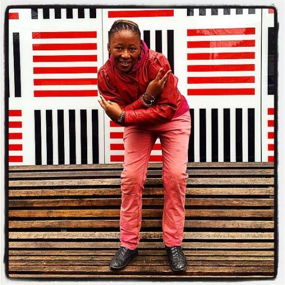 Sicka outside Munch Museum,  Oslo. Photo by Zanele Muholi (23/02/2015)