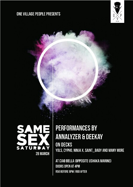 Same Sex Saturday ...
