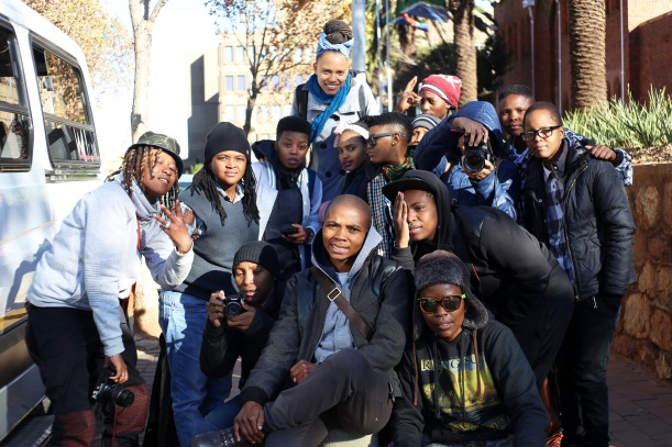 Yithi Laba conference delegates on Day 1 at Con Hill before the tour.
