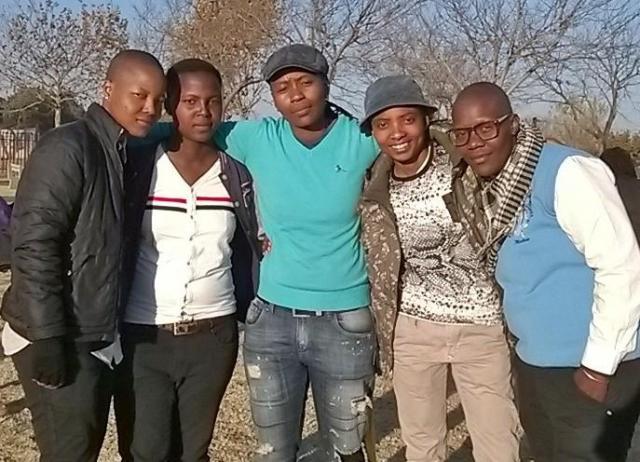2015/06/16:  KwaThema, Johannesburg.  Pictured L-R Nkopane Boitumelo McMellow,  Liza Mokae, Amo Amogelang Precious Senokwane, Lerato Dumse and Thops Matseko Mahlaba.